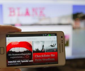 BLANK auf dem Smartphone